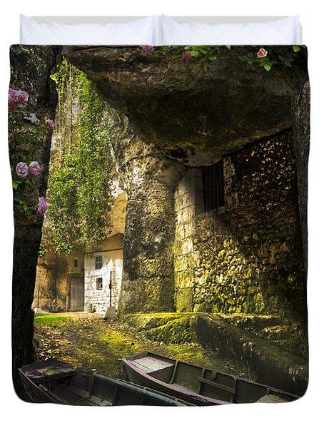 A Secret Place Duvet Cover by Debra and Dave Vanderlaan