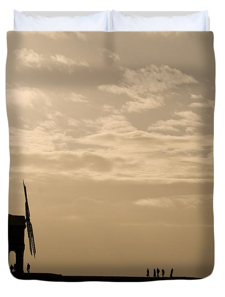 A Sense Of Perspective Duvet Cover by Anne Gilbert