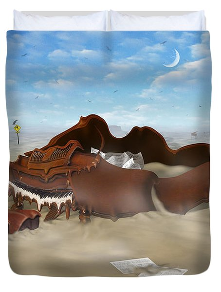 A Slow Death In Piano Valley Duvet Cover by Mike McGlothlen