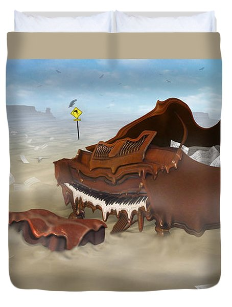 A Slow Death In Piano Valley - Panoramic Duvet Cover by Mike McGlothlen