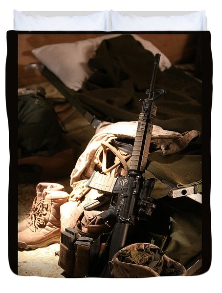 A Soldiers Friends Duvet Cover by Shoal Hollingsworth