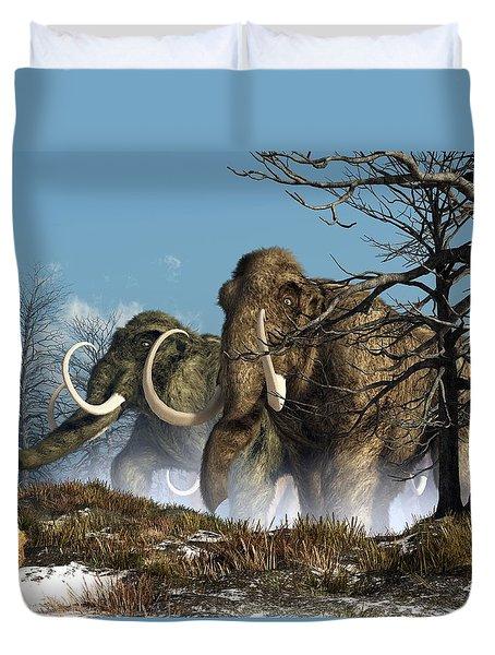 A Storm Of Mammoths  Duvet Cover by Daniel Eskridge