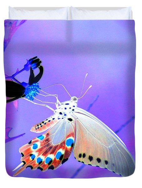 A Strange Butterfly Dream Duvet Cover by Kim Pate