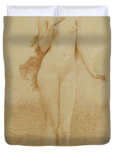 A Study For The Birth Of Love Duvet Cover by Solomon Joseph Solomon