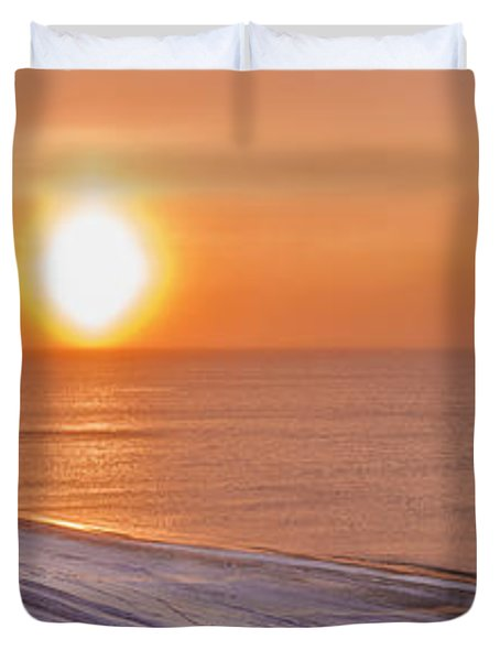 A Sundog Hangs In The Air Over The Duvet Cover by Kevin Smith