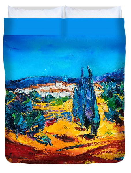 A Sunny Day In Provence Duvet Cover by Elise Palmigiani