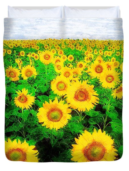 A Sunny Day With Vincent Duvet Cover by Sandy MacGowan