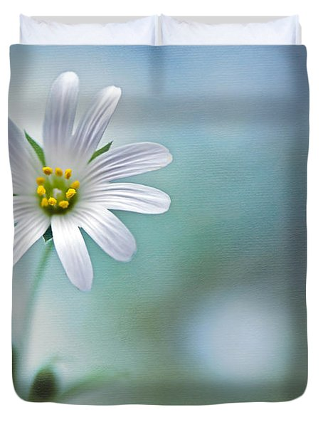 A Touch Of White Duvet Cover by Jacky Parker