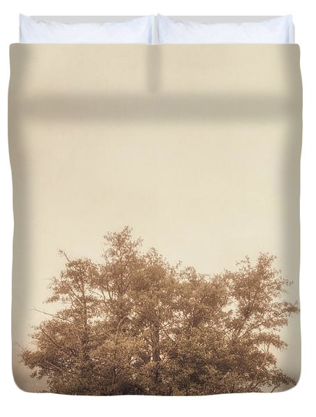 A Tree in the Fog Duvet Cover by Scott Norris