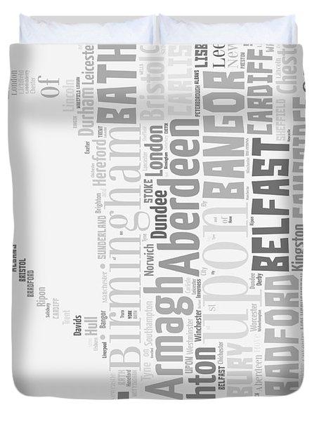 A Uk Cup Duvet Cover by Georgia Fowler