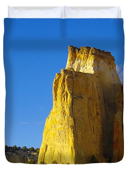 A View In The Grand Escalante Staircase Duvet Cover by Jeff Swan