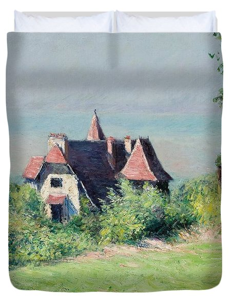 A Villa At Trouville Duvet Cover by Gustave Caillebotte