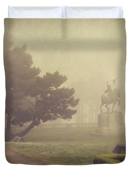 A Walk In The Fog Duvet Cover by Laurie Search