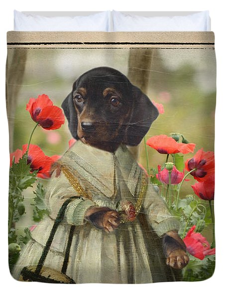 A Walk In The Garden Duvet Cover by Terry Fleckney