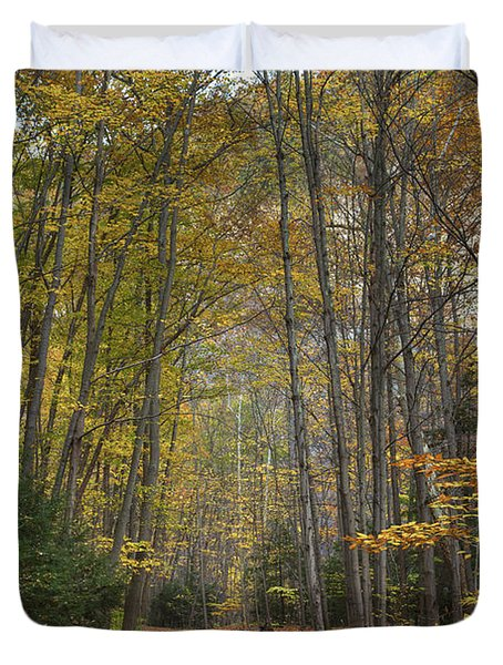 A Walk In The Woods II Duvet Cover by Michele Steffey