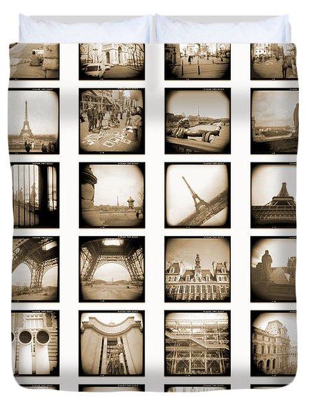 A Walk Through Paris Duvet Cover by Mike McGlothlen