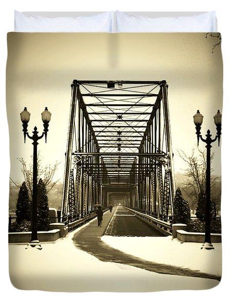 A Walk Through Time Duvet Cover by Lori Deiter