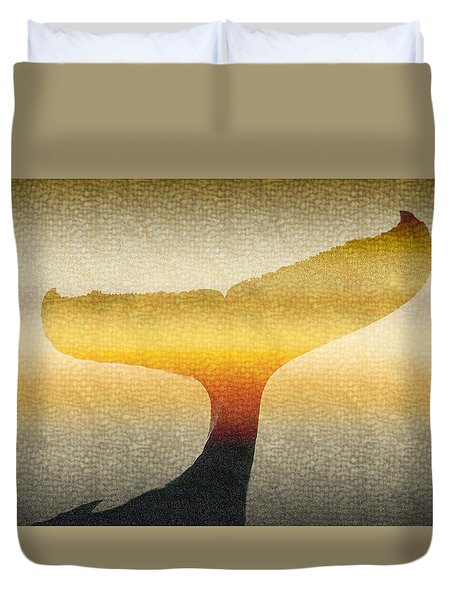 A Whales Tale Duvet Cover by Holly Kempe