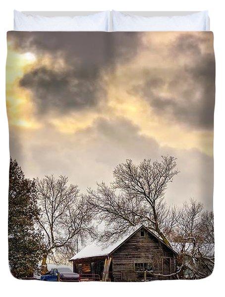 A Winter Sky Duvet Cover by Steve Harrington