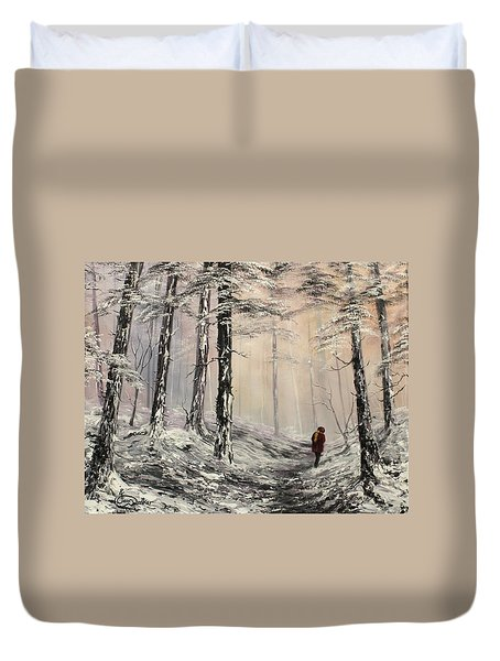 A Winter Walk Duvet Cover by Jean Walker