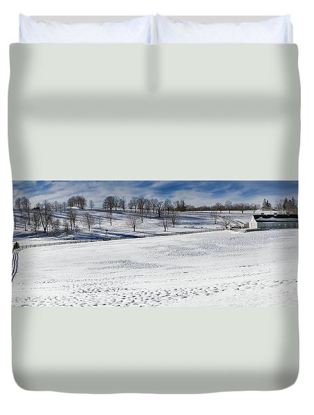 A Winters Day Duvet Cover by Bill Wakeley