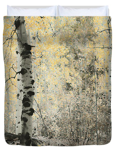 A Wisp Of Gold Duvet Cover by Don Schwartz