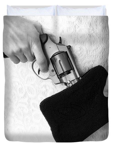 A Woman Scorned Duvet Cover by Edward Fielding
