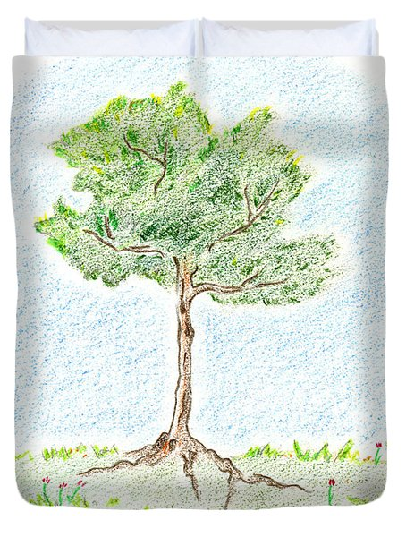 A Young Tree Duvet Cover by Keiko Katsuta
