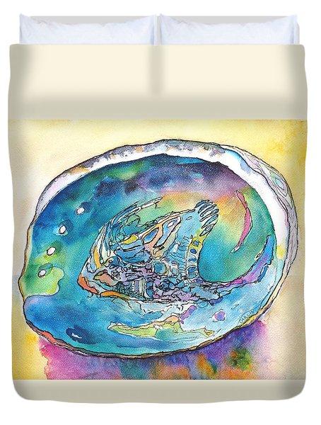 Abalone Shell Tropical Color Duvet Cover by Carlin Blahnik