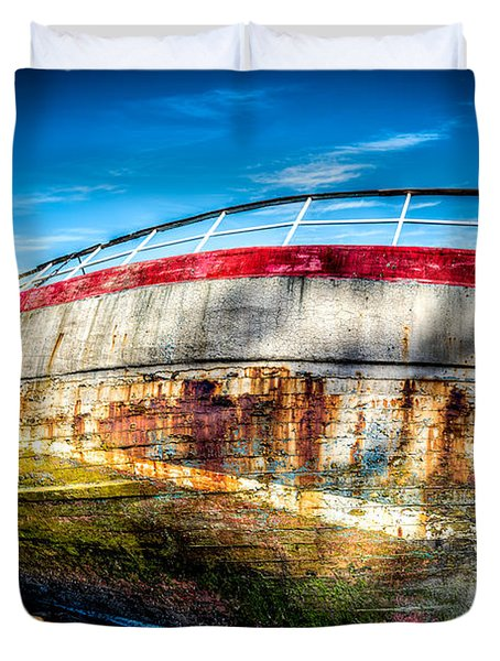 Abandoned Boat Duvet Cover by Adrian Evans