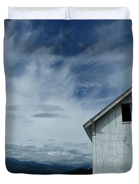 Abandoned by the Water Duvet Cover by Patricia Strand