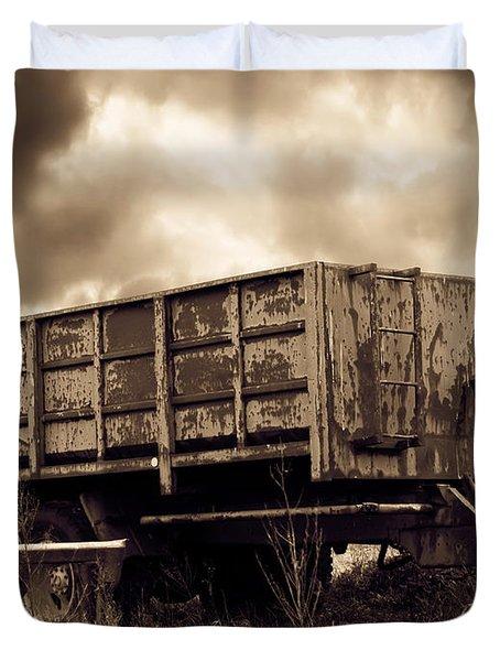 Abandoned Cart Duvet Cover by Wim Lanclus