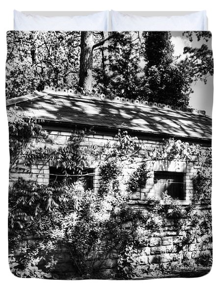 Abandoned Mono Duvet Cover by Steve Purnell