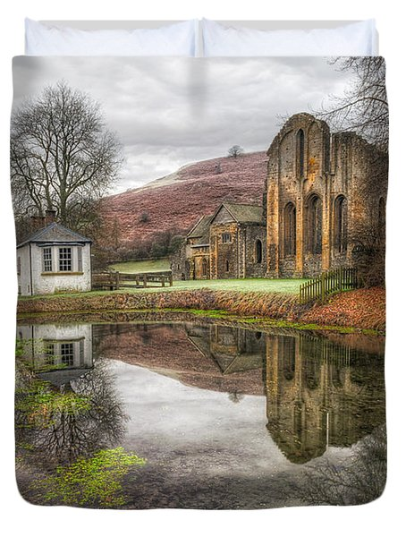 Abbey Reflection Duvet Cover by Adrian Evans