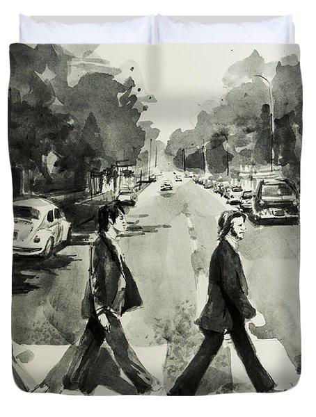 Abbey Road Duvet Cover by Bekim Art