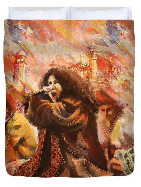 Abida Parveen Duvet Cover by Catf