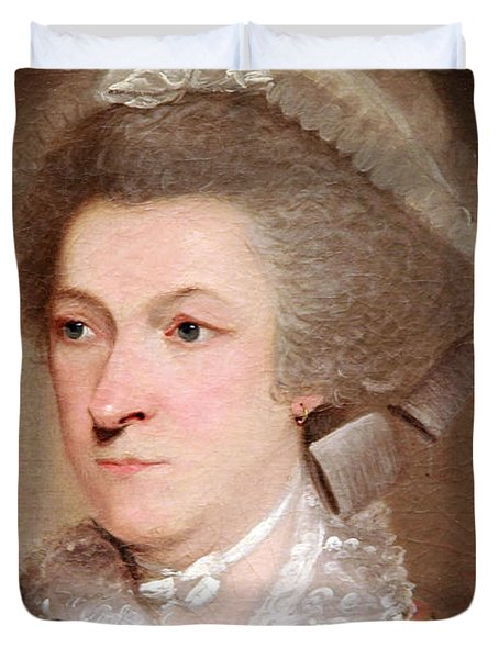Abigail Smith Adams Up Close -- 2 Duvet Cover by Cora Wandel