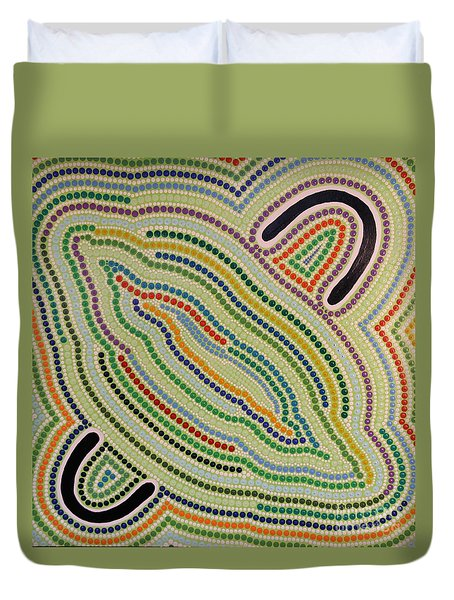Aboriginal Inspirations 17 Duvet Cover by Mariusz Czajkowski