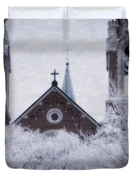 Above It All Duvet Cover by Joan Carroll