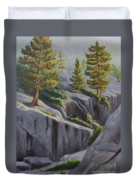 Above The Gorge Duvet Cover by Cheryl Bloomfield