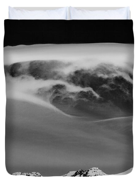 Above The Peaks Duvet Cover by Dave Bowman
