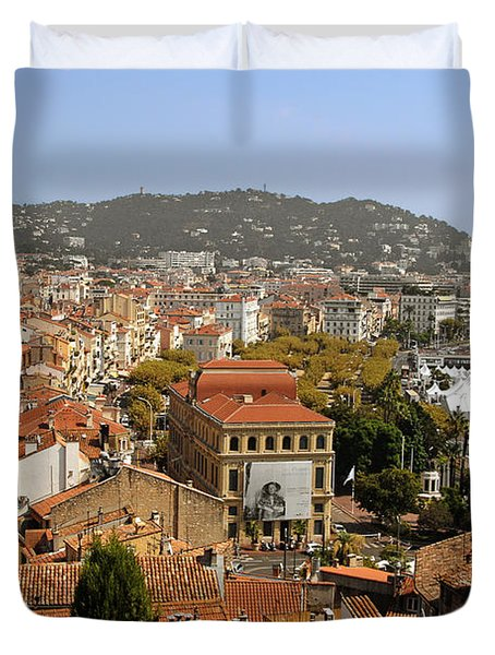 Above The Roofs Of Cannes Duvet Cover by Christine Till
