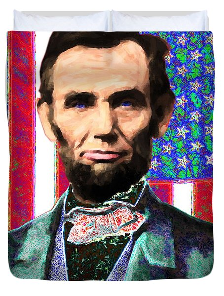 Abraham Lincoln 20130115 Duvet Cover by Wingsdomain Art and Photography