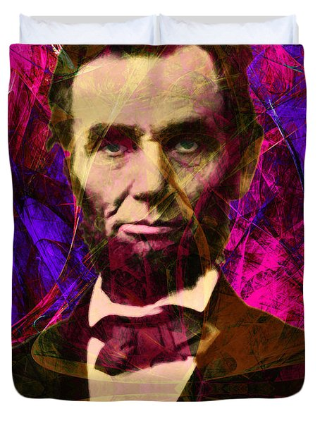 Abraham Lincoln 2014020502m68 Duvet Cover by Wingsdomain Art and Photography