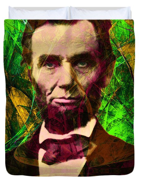 Abraham Lincoln 2014020502p68 Duvet Cover by Wingsdomain Art and Photography