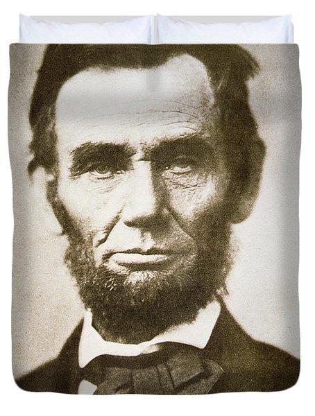 Abraham Lincoln Duvet Cover by Alexander Gardner