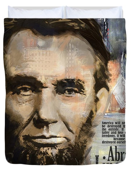 Abraham Lincoln Duvet Cover by Corporate Art Task Force