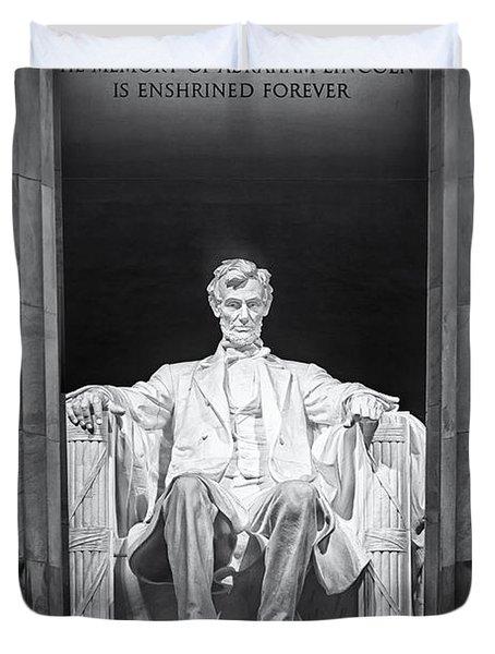 Abraham Lincoln Memorial Duvet Cover by Susan Candelario
