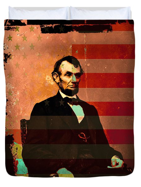 Abraham Lincoln Duvet Cover by Wingsdomain Art and Photography