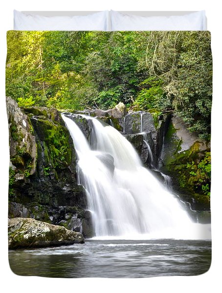 Abrams Falls Duvet Cover by Frozen in Time Fine Art Photography